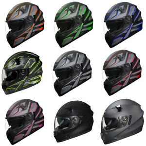 Fulmer-Adult-Full-Face-Motorcycle-Helmet-151-Pulse-DOT-Approved-Street-Bike