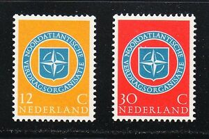 Netherlands-1959-MNH-Mi-728-729-Sc-377-378-10th-anniversary-of-NATO