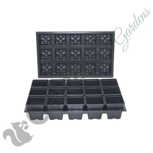 3 x Carry Trays Combo Deal Black Plastic Pot 45 x 7cm Square Plant Pots