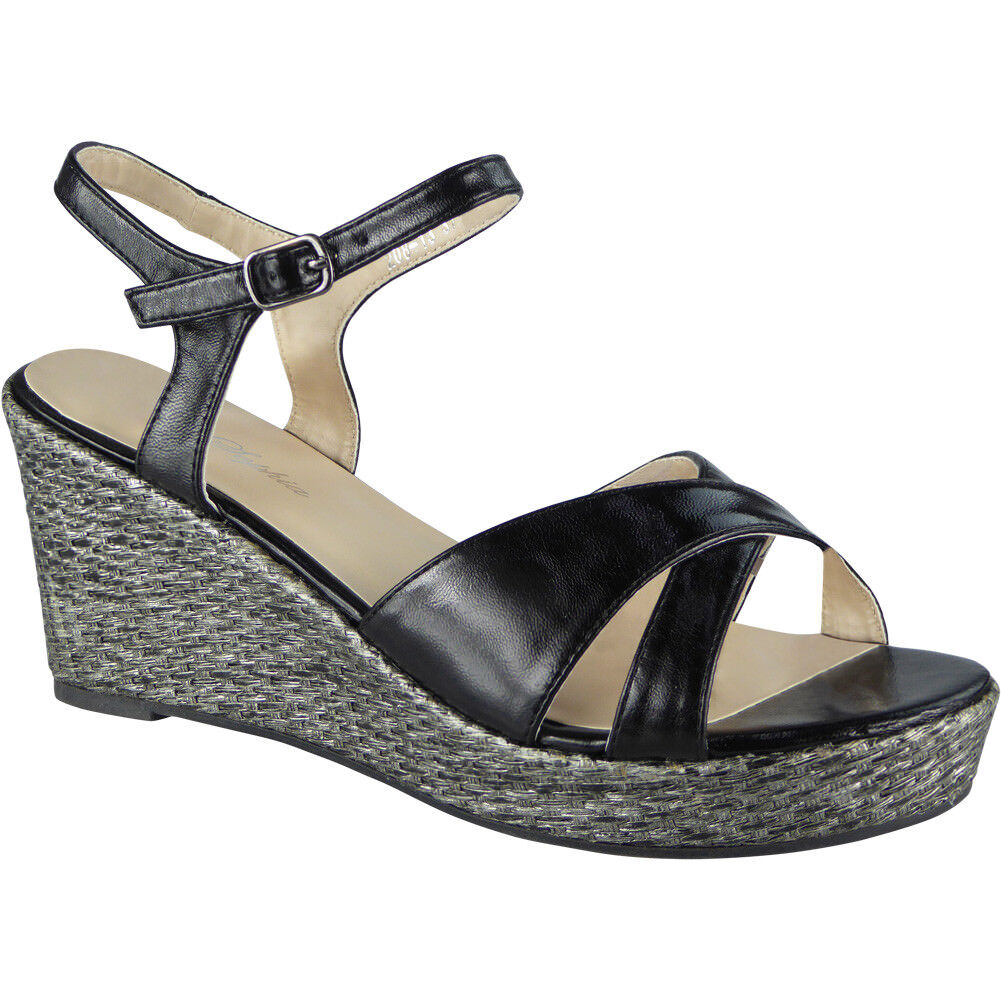 Gentlemen/Ladies New Womens Ladies Peeptoe Wedges Platform Sandals Wedding Party Shoes Wedge Sandals Platform Size High quality and low overhead Ranked first in its class King of the crowd HR3621 583791