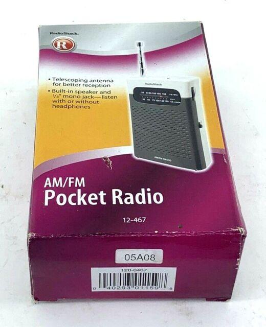 RADIO SHACK - AM/FM Pocket Radio • Model 12-467 New