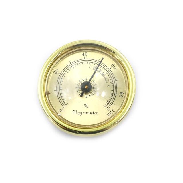 45mm Thermometer Cigar Hygrometer Monitor Meter Gauge Humidity Measuring Tools