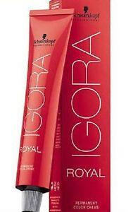 Coloration cheveux Igora Royal Schwarzkopf 4.63 châtain marron mat  tube 60 ml