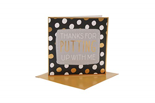 You'll Do 'Thanks for Putting Up with Me' Card | from CGB Giftwares You'll Do |