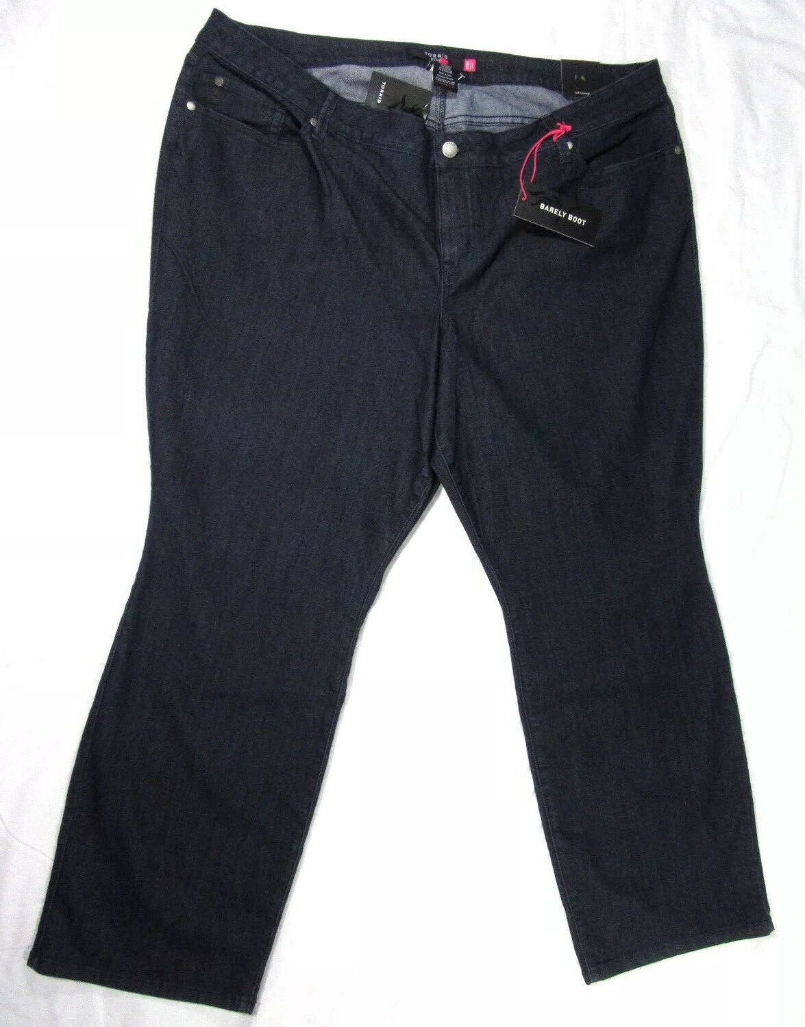 TORRID Barely Boot Jeans Indigo Dark Rinse Slim Fit Midrise Size 26R NWT
