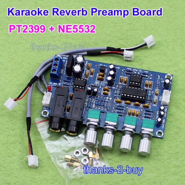 PT2399 Karaoke Microphone MIC Audio Pre Amp Amplifier Reverb Board Module AC 12v