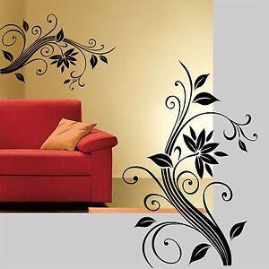 wall stickers fiori camera soggiorno armadio fiore adesivi murali ...