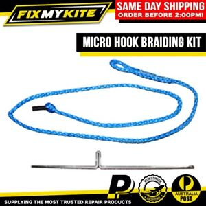 KITEBOARD BROKEN KITE LINES REPAIR KIT BRAIDING TOOL WITH SPLICING MICRO HOOK