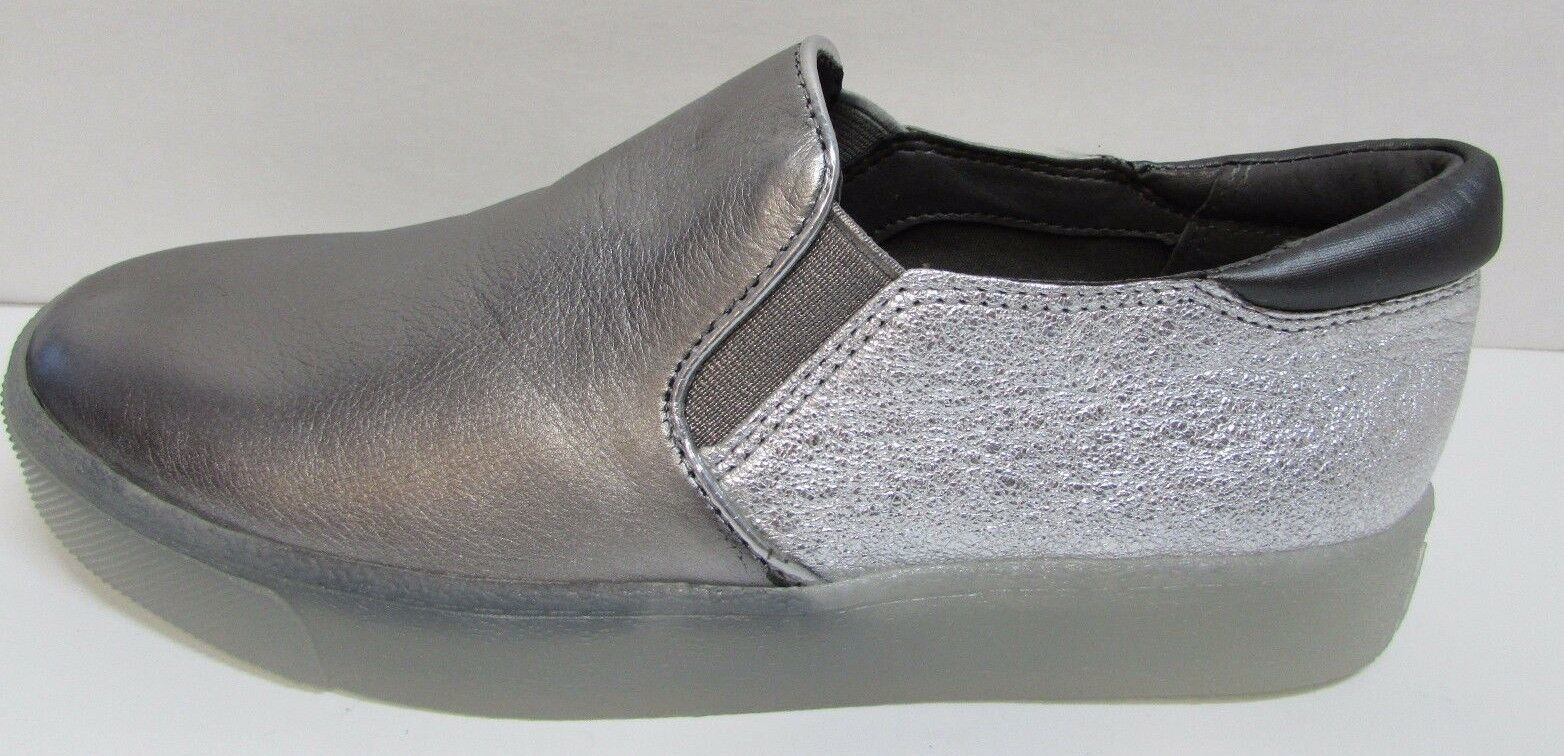 Sam Edelman Größe 6  Leder Silver Slip On NEU Damenschuhe Schuhes