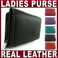 Ladies Real Leather Purse 9 Credit Card Slots Id Window Great Quality 7 Colours