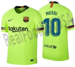 65583df36 Image is loading NIKE-LIONEL-MESSI-FC-BARCELONA-AWAY-JERSEY-2018-