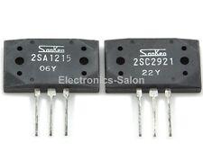 5x 2SA1215-Y & 5x 2SC2921-Y Original SANKEN Audio High Power Transistors.