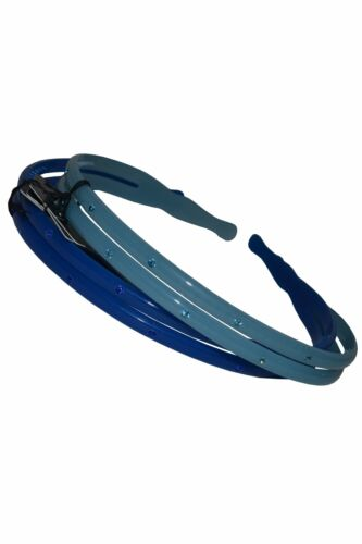 Babyliss Alice Bands Pack of 2 Blue with Jewels