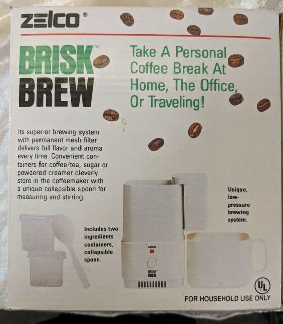 Zelco Brisk Brew Compact/Portable Auto-Drip Coffeemaker NEW