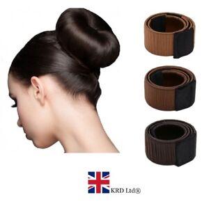 HAIR-BUN-MAKER-French-Magic-Bands-Twist-Easy-Snap-Tool-DIY-Styling-Donut-Tool-UK