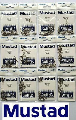 3000 MUSTAD FISHING ROLLING SNAP SWIVEL WHOLESALE NIB SIZE 14 1000-2000