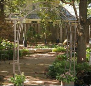Details About Metal Arch Arbor Planters Trellis Archway Outdoor Garden  Patio Wedding Pergola