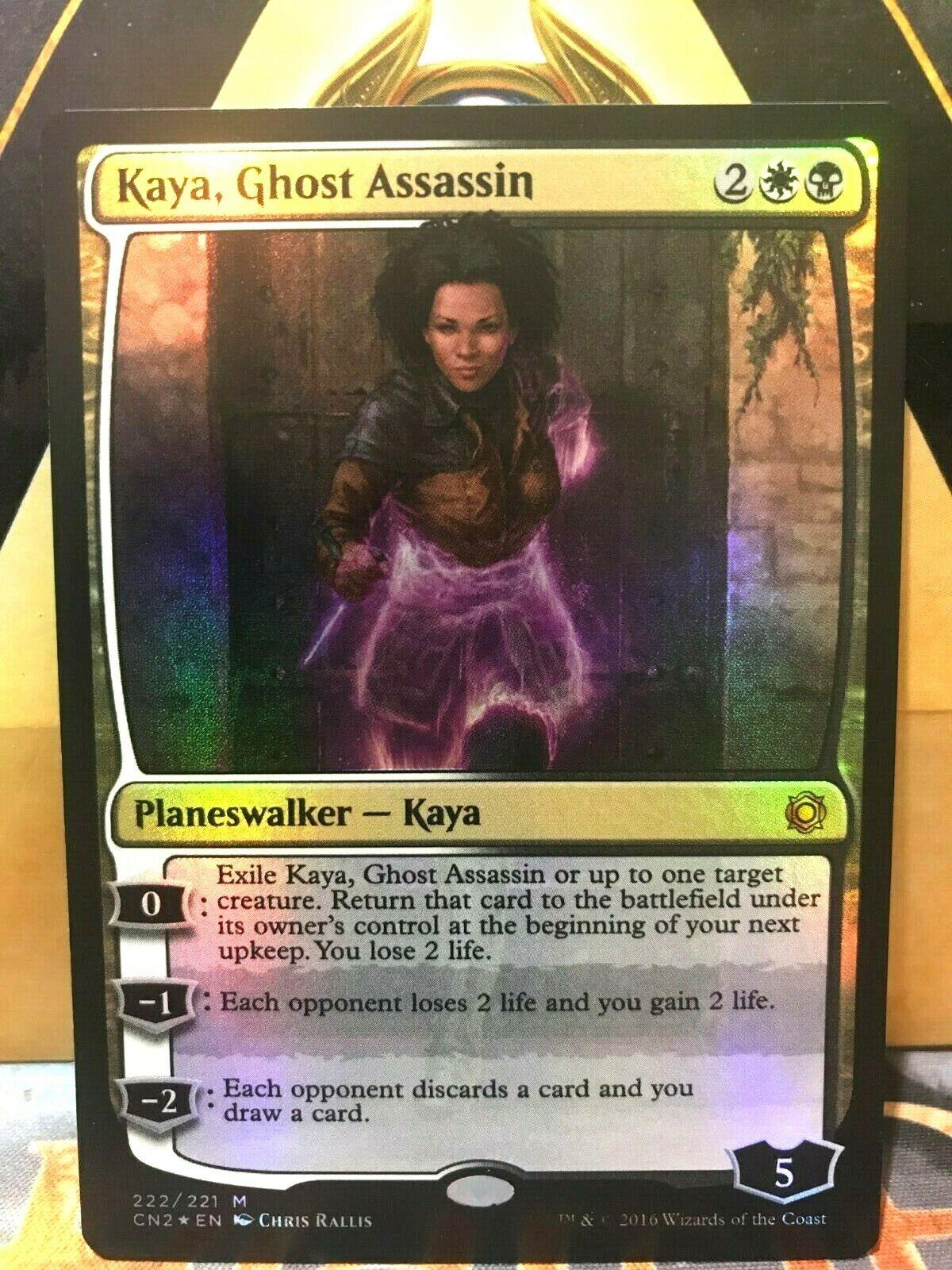 Kaya, Ghost Assassin (Alternate Art Foil)  Conspiracy Take the Crown NM-Mint MTG