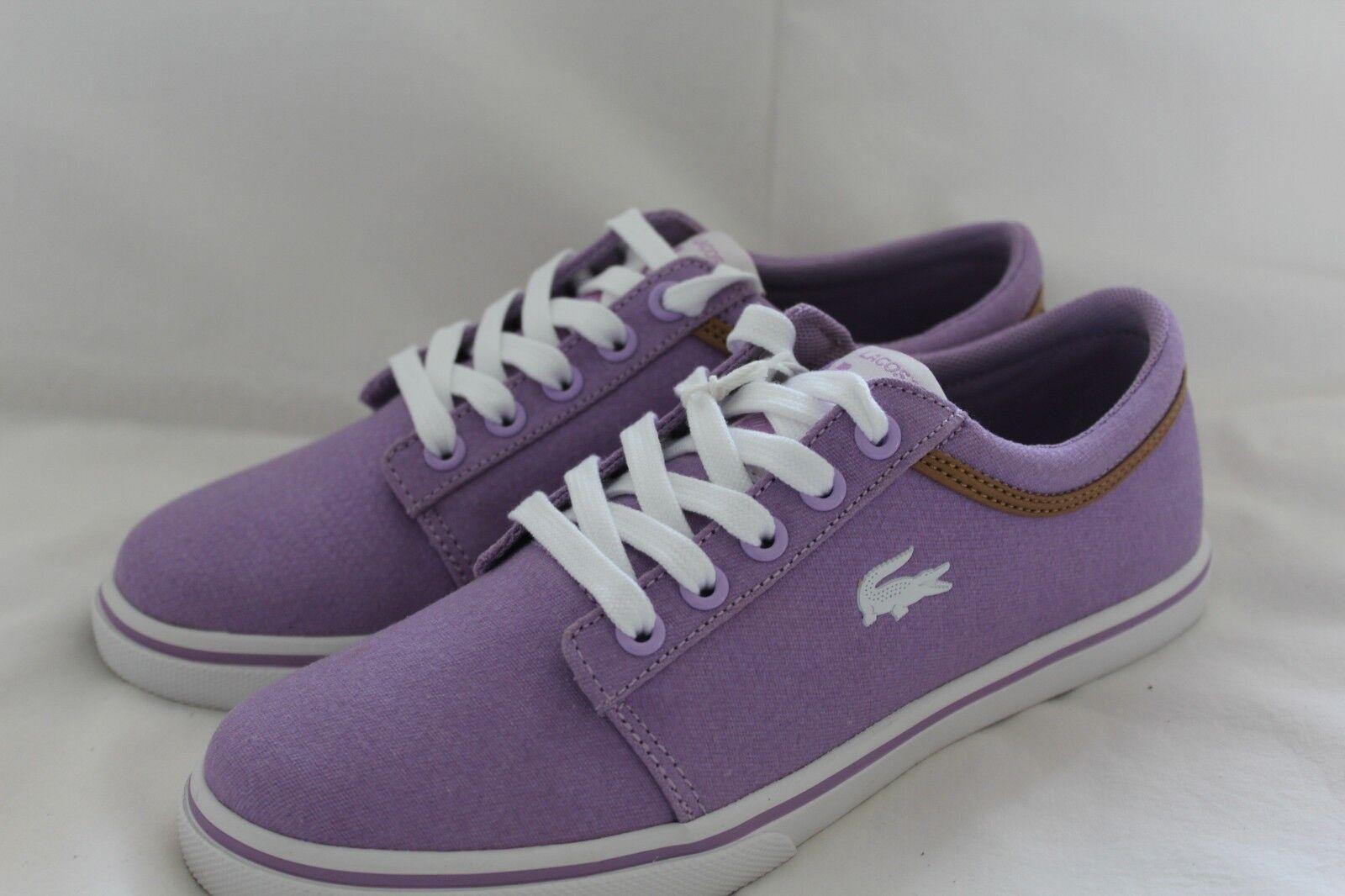 LACOSTE LADIES VAULTSTAR SLEEK TRAINERS UK 4-8 (violet blanc)