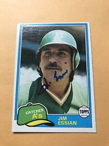 Jim Essian  Signed 1981 Topps Oakland A's Card # 178 Utica Unicorns
