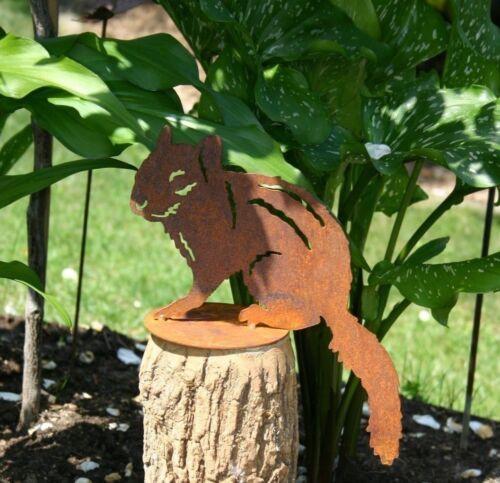 Chipmunk Streifenhörnchen Edelrost Gartendeko Metall Rost auf Platte