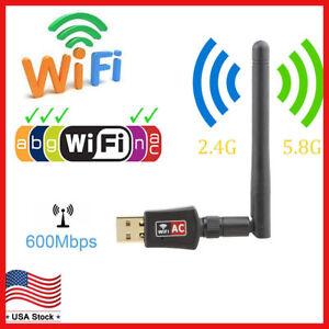 Dual-Band-600Mbps-Wireless-USB-WiFi-Network-Adapter-w-Antenna-802-11AC-2-4-5Ghz
