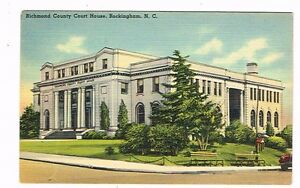 Unused-1940s-Rockingham-NC-Richmond-County-Courthouse-Colorized