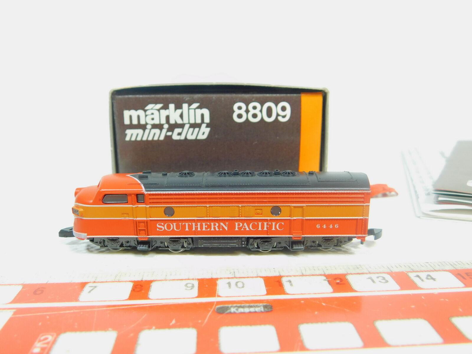 BP270-0,5  Märklin mini-club Spur Z DC 8809 US- USA-Diesellok SP 6446, s.g.OVP  | Clever und praktisch