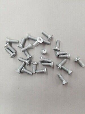 pcs 25 M8 x 1.25 x 45MM Hex Flange Screw CL 10.9 Geomet Silver Coating