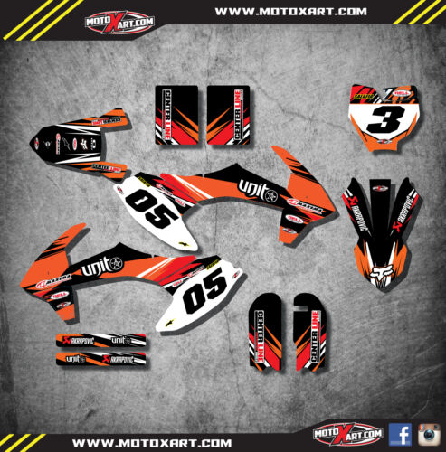 Custom graphics full kit DIGGER STYLE  stickers to fit KTM 50 2016-2018
