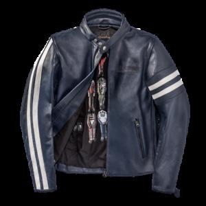 Dainese-Freccia72-Blue-Leather-Retro-Jacket-Motorcycle-Jacket-New