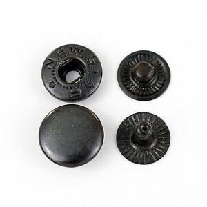360 Druckknöpfe TYPE 54 / 12,5mm schwarz, nähfrei, für Kleidung, Leder, Textil