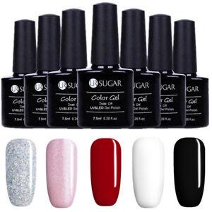 5-Flaschen-Set-7-5ml-Soak-off-UV-Gellack-Nail-Art-Tippos-Nagellack-DIY-UR-SUAGR