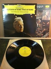 OTTORINO RESPIGHI Fountains Pines of Rome Vinyl LP KARAJAN Mint/VG