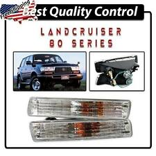 Toyota Landcruiser 80 Series New Clear Crystal Front Indicators Lights Fj80 pair