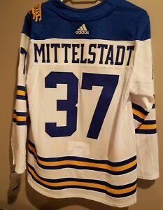 8f388ee45 Image is loading Buffalo-Sabres-Casey-Mittelstadt-Winter-Classic-Jersey -Felt-