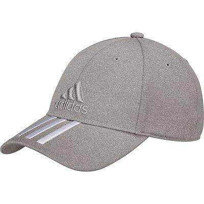 adidas Baseball Classic Melange Cap 6 Panel 3 Stripes Grau meliert Mütze Kappe