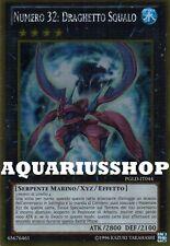 Yu-Gi-Oh Numero 32 Draghetto Squalo PGLD-IT044 Gold Ultra ITA Number Shark Drake