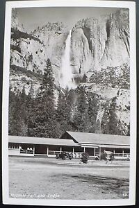 1940s rppc yosemite falls and lodge yosemite national park