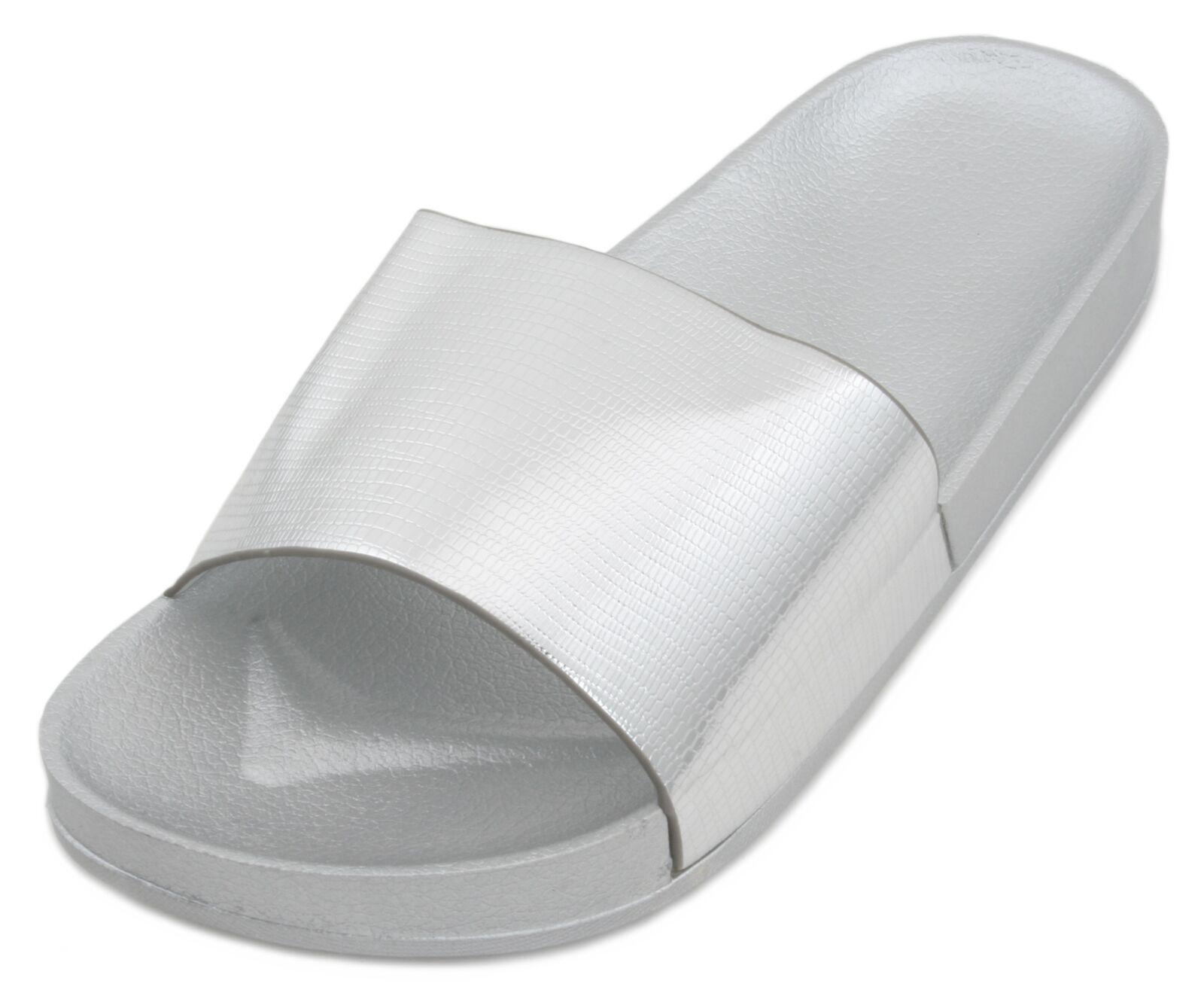 d5bfc0dfff90 Sandrocks Ladies Metallic Pool Slide Sandal Flip Flop Rose Gold 5 UK for  sale online