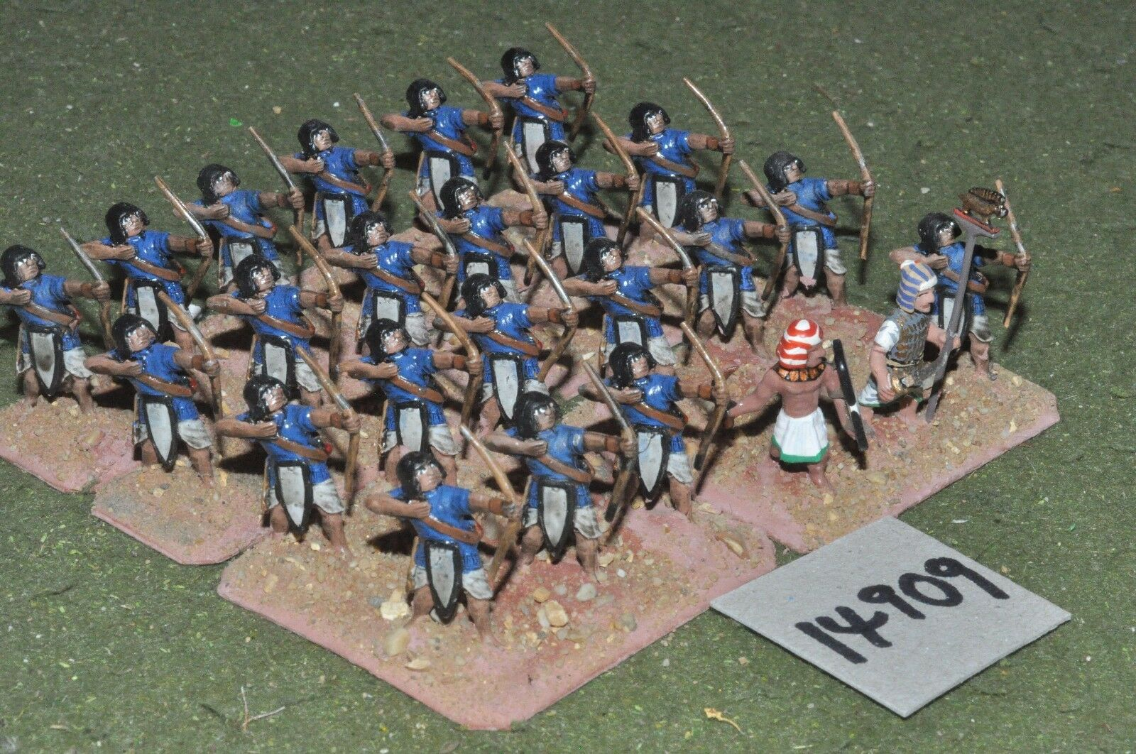 25mm biblical   egyptian - archers 24 figures - inf (14909)