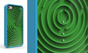 PURE-GEAR-GROOVY-custodia-per-iPhone-5S-5-amp-SE-in-blu-VERDE-LIQUIDAZIONE
