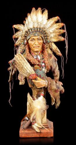 Les Indiens buste-chef avec compartiments-Personnage Statue Guérisseur Western Deco