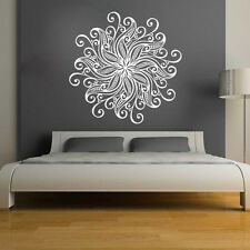 Mandala Wall Stickers Decor Indian Yoga Oum Om Sign Decal Vinyl Bedroom Art Ah84