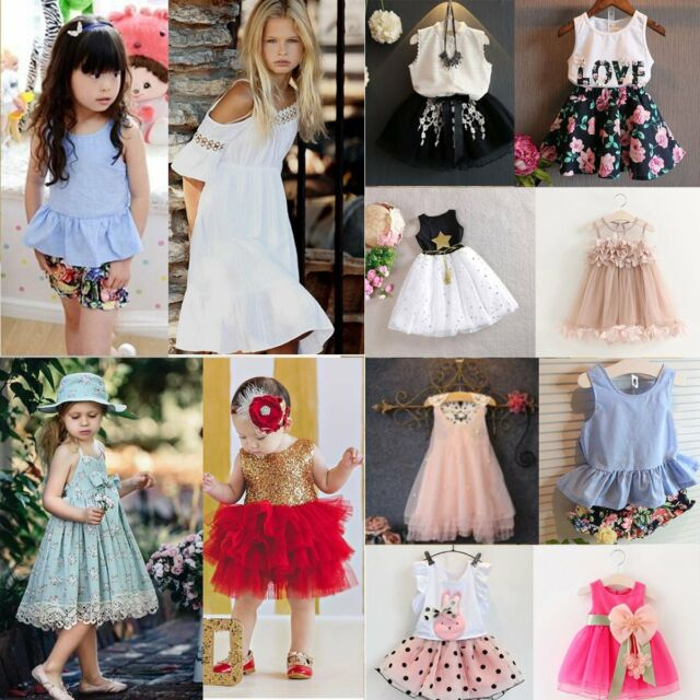 Toddler Girl Kids Baby Party Princess Dress Wedding Pageant Tutu Dresses Clothes