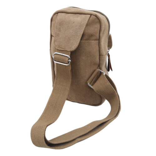 Cool Mens Small Shoulder Chest Casual Sports Messenger Crossbody Canvas Bag