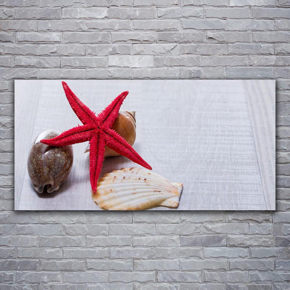 Photo sur toile Tableau Image Impression 120x60 Art Coquille Étoile De Mer