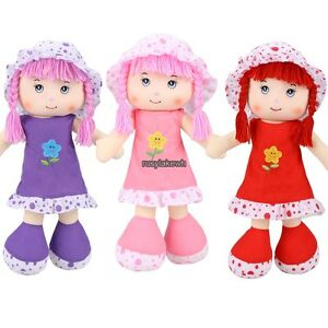 Cute Plush Cartoon Girl Doll Soft Plush Toys Baby Kids Gift Cotton