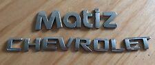 CHEVROLET MATIZ REAR BADGE LOGO EMBLEMA lettere (A70)