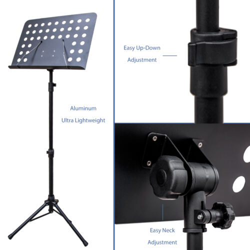SKY Brand New Strong Durable Adjustable Folding Music Stand